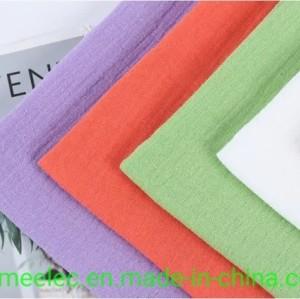 Double Layer Gauze Fabric Dress Cloth Skirt Fabric 40s 120g Seersucker Cotton Fabric Crepe