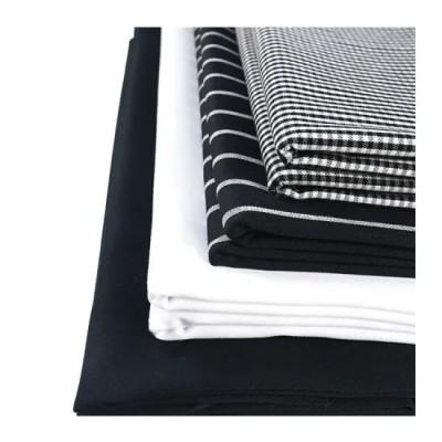 Brand New Black Yarn Dyed Stripe Warp Stretch Bengaline Linen Fabric for Pants Dress