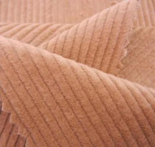 Wholesale Woven Plain Style Elasticity Corduroy 100% Cotton Fabric for Pants Dresses Coats