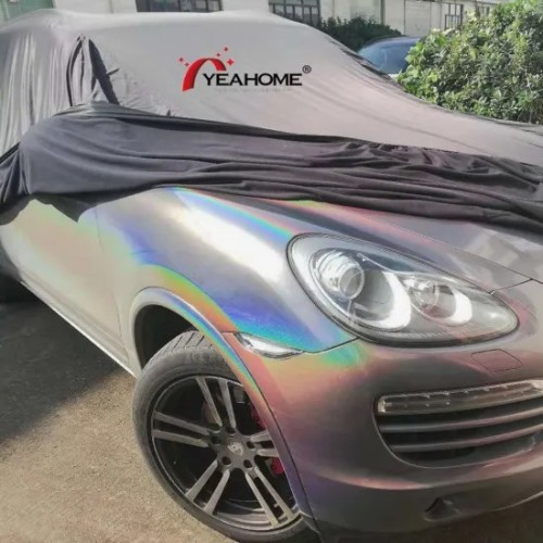 Shiny 2-Side Stretch Indoor Car Cover Universal Fits for SUV