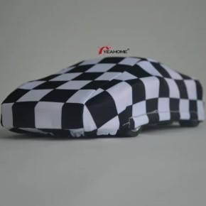 Classic Checks Printed Design Dust-Proof Sedan Indoor Car Cover