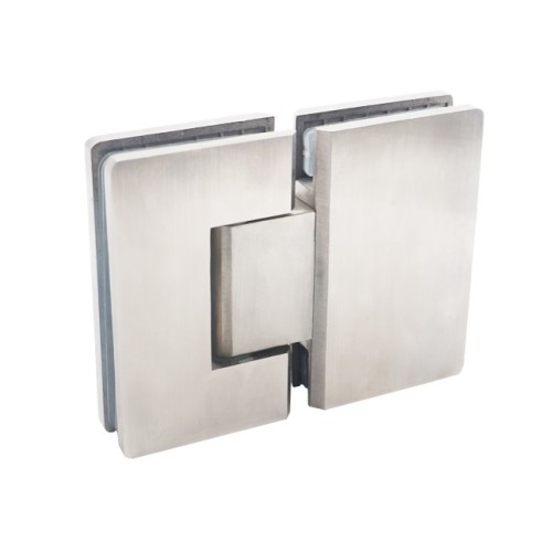 Shower door hardware hinge