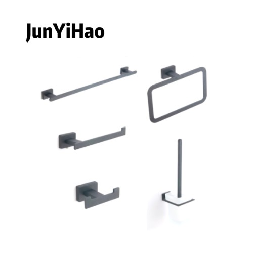 Bathroom hardware zinc alloy chrome plating set bathroom shelf toilet towel bar hardware pendant