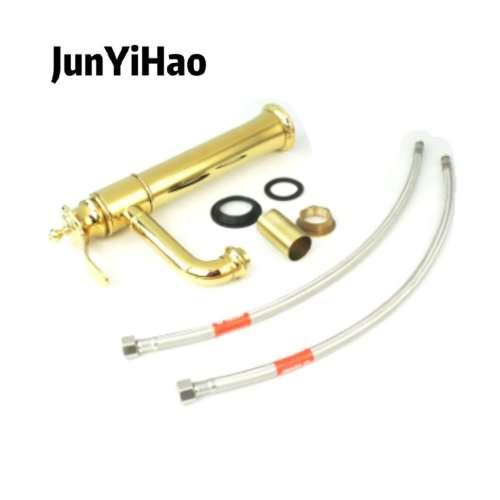 gold color ceramic cartridge full brass basin faucet classic single handle chromed bathroom faucet