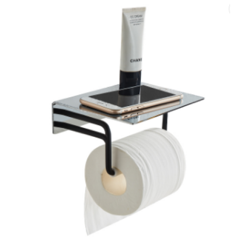 Bathroom accessories bathroom fittings and accessories Stainless steel paper holder with shelf