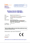 Directiva de maquinaria 2006/42 / CE CERTIFICADO DE CONFORMIDAD