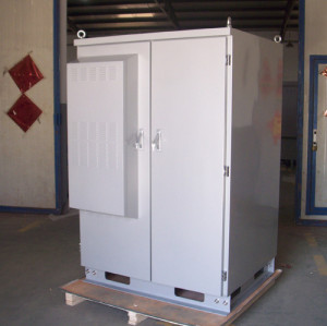 SK-419 battery cabinet, with heat exchanger, IP55