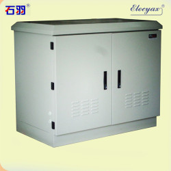 SK-12090 battery cabinet, with axial fans and windows, IP54