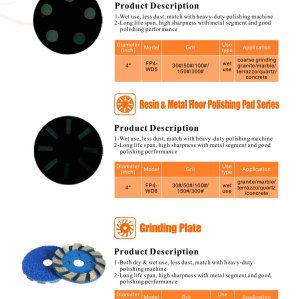 Resin&Metal Floor Polishing Pad Series