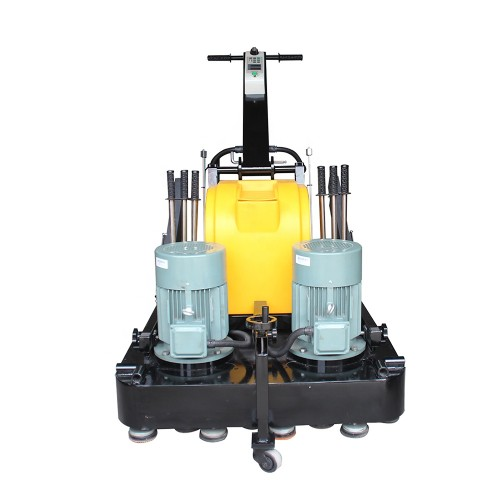 12 Heads Three Phase Marble Granite Floor Grinder Polisher , Adjustable Handle