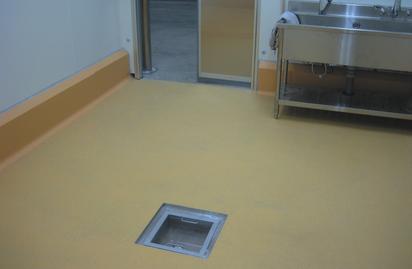 Vertical surface waterborne polyurethane mortar floor