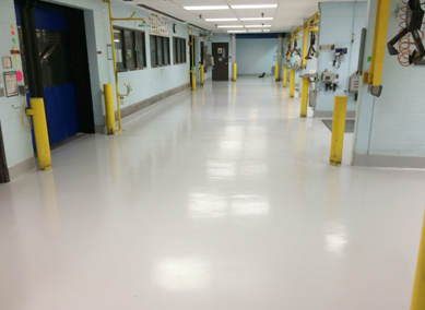 Two-component solvent-free self-leveling polyurethane floor