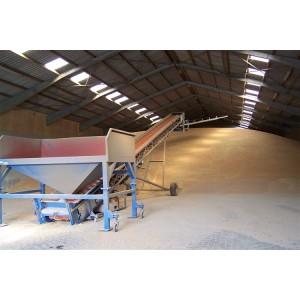 Simple mobile belt conveyor using in grain or light cargo handling solution