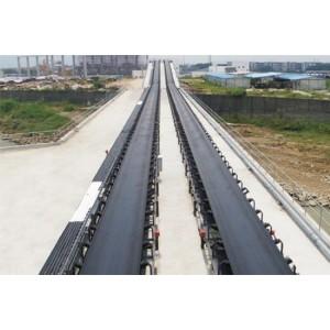 Cinta transportadora de larga distancia utilizada para material a granel con gran capacidad de transporte