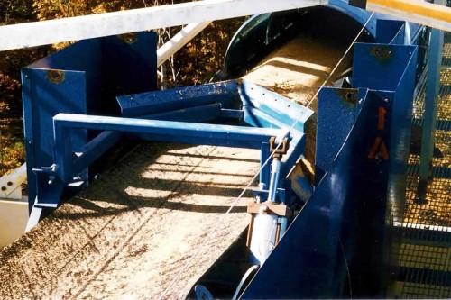 Ленточный конвейер с устройством разгрузки плуга