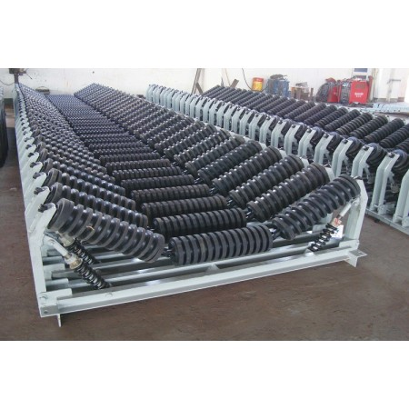 Impact Idlers installed at conveyors loading point good buffering function China Brand