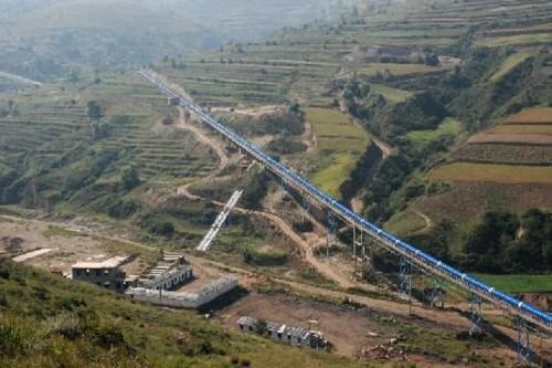 DTII (A) نوع ناقل الحزام الثابت المستخدم في التعدين والمناجم والفحم ومحطة الطاقة ومواد البناء