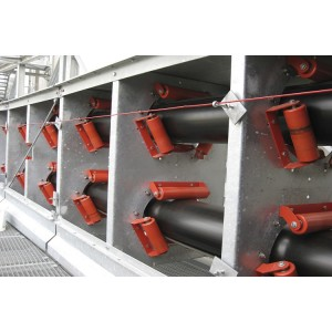 Pipe Belt conveyor used in Electrical power plant