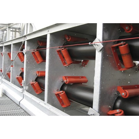 Cement plant tubular pipe belt conveyor with the whole machine closed transmission