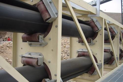ناقل حزام الأنابيب المستخدمة في صناعة الاسمنت
