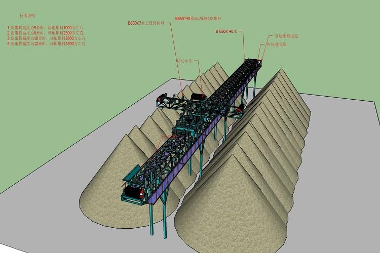 stacking conveyor drawing