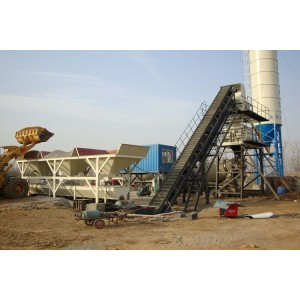 Large angle belt conveyor for mixed batch plant application no sprinkling