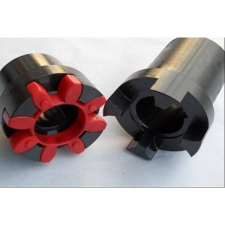 Plum-shaped elastic coupling used for belt conveyor