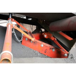 Unloading section Belt cleaner used in non-working belt