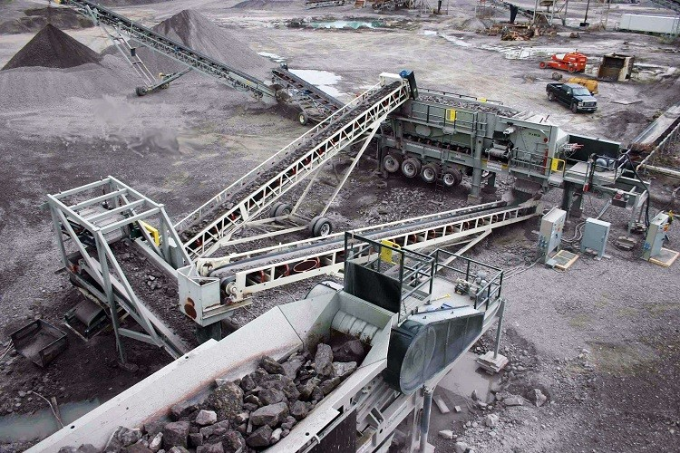 mobile conveyor used crushing plant