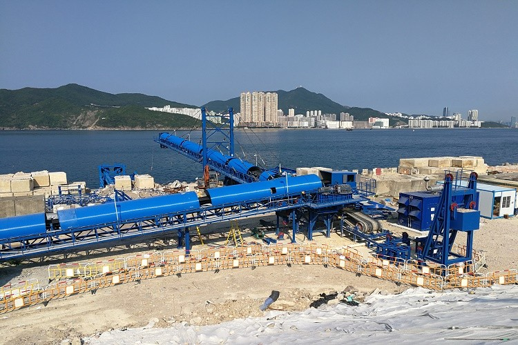 conveyor for barge loading