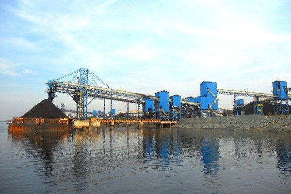 Barge loading belt conveyors stationary design/Manufacturer of Barge & Ship Loading System