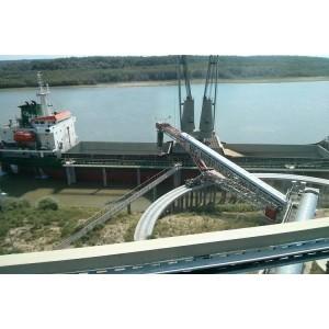 Barge loading belt conveyors designed by mobile solution