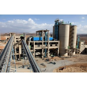 Belt conveyors system used for raw material handling in cement processing plant