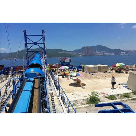 Port stacking and loading fixed belt conveyor system China brand