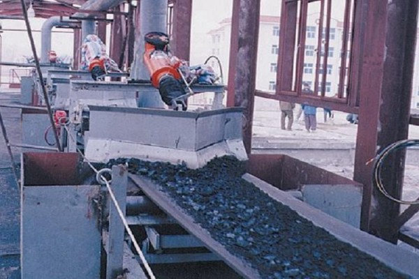 Belt conveyor with Plough discharging device used for stacking solution