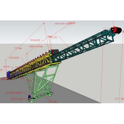 SKE موحدة تصميم حزام ناقل تلسكوبي الناقل