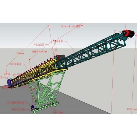 SKE стандартизированная мобильная конструкция конвейера с ленточным конвейером