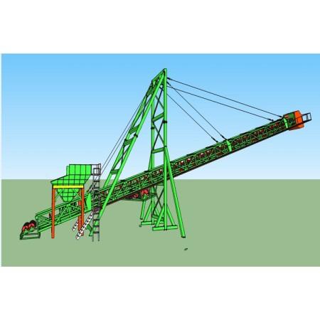 Cantilever belt conveyor for barge loading or stockpile design