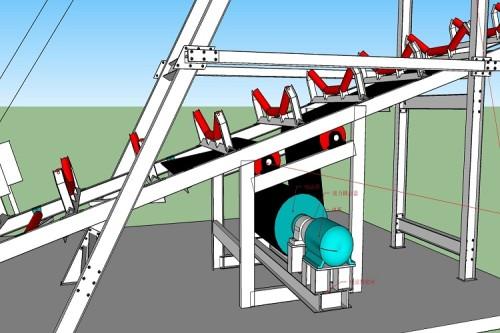 ناقل الحزام الكابولي للتحميل أو التجميع بميناء النهر الداخلي