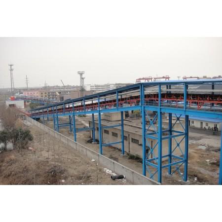 Bulk material transportation solution by using  tubular belt conveyor