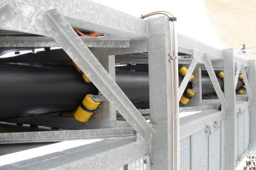 حل نقل المواد السائبة باستخدام ناقل الحزام الأنبوبي