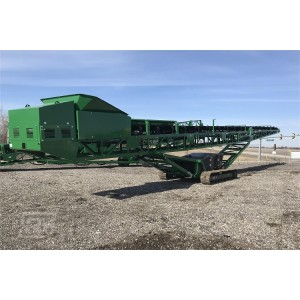Штабелируемый конвейер на гусеничном ходу с подвижной конструкцией для сыпучих материалов