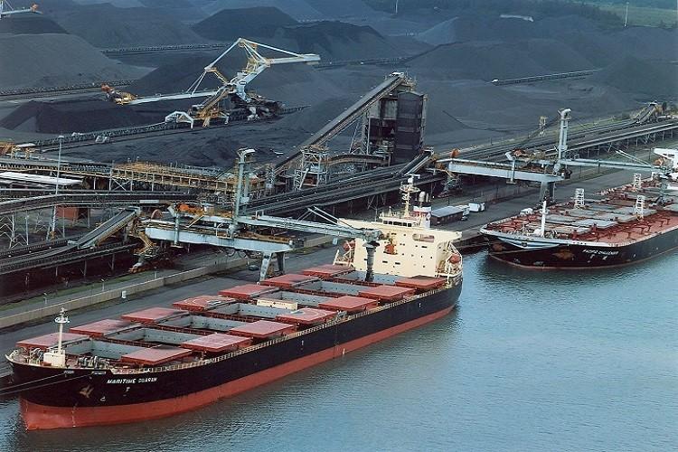cinta transportadora para carga de buques
