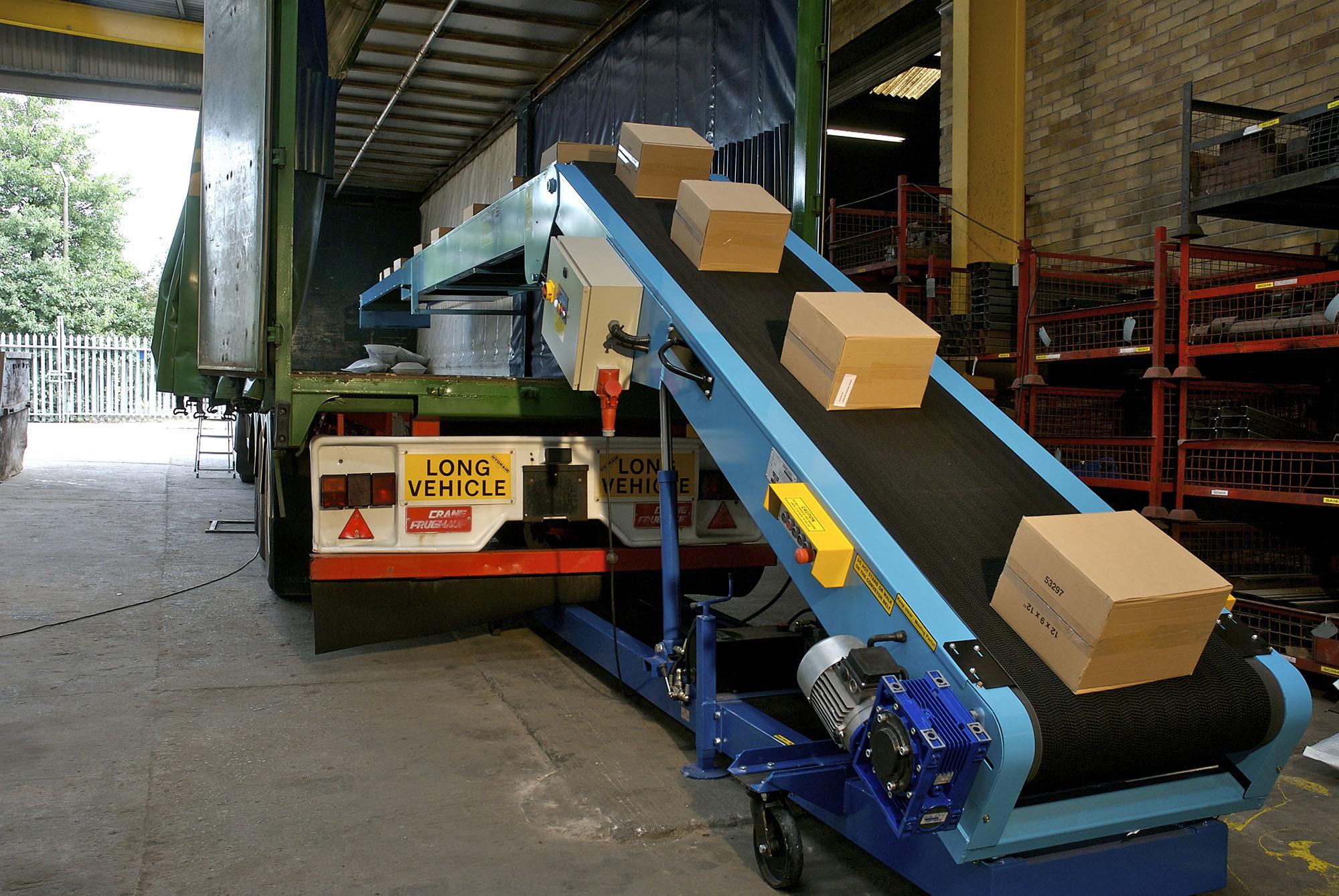 Camiones de cinta transportadora de carga