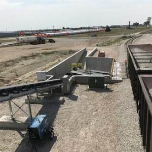 تحميل وتفريغ نظام الحزام الناقل لمحطة السكك الحديدية