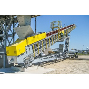 Portable Radial Telescopic Belt Stacking Conveyor with Larger Stockpile Capabilty