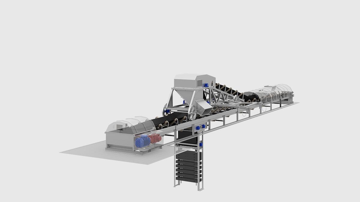 diseño de recogida de cinta transportadora de gran peso