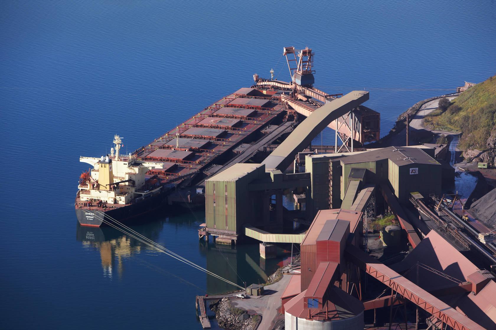 Cinta transportadora SKE para carga de barcazas
