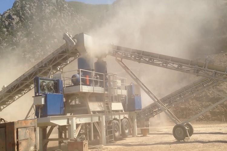 мобильный ленточный конвейер для камнедробильного завода