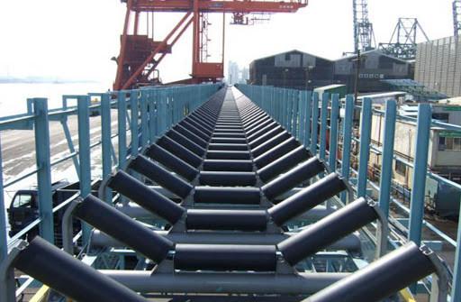 instalación de cinta transportadora